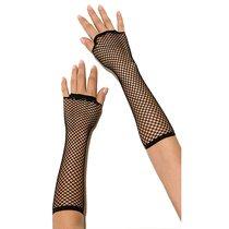 Перчатки Long Fishnet Gloves в сетку, цвет черный, OS - Electric Lingerie