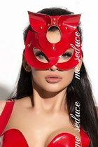 Маска на глаза из материала под винил с ушками, цвет красный - Me Seduce