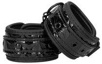 Черные наручники Luxury Hand Cuffs, цвет черный - Shots Media