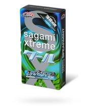 Презервативы Sagami Xtreme Mint с ароматом мяты - 10 шт. - Sagami