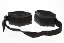 Полиуретановые манжеты на запястья с нейлоновым ремешком Adjustable Wrist Restraints, цвет черный - Blush Novelties