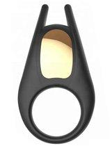Черное эрекционное виброкольцо Lucas, цвет черный - Winyi