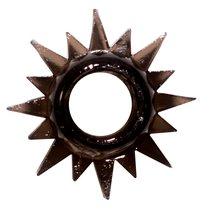 Чёрное эрекционное кольцо Rings Cristal, цвет черный - Lola Toys