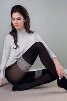 Колготы Paula с имитацией чулок, цвет серый/черный, 3 - Gabriella