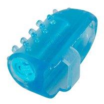 Голубая насадка на палец с вибрацией, цвет голубой - ORION