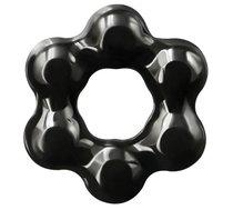 Черное эрекционное кольцо Spinner Ring, цвет черный - NS Novelties