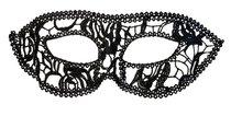 Нитяная маскарадная маска на глаза, цвет черный - Toyfa
