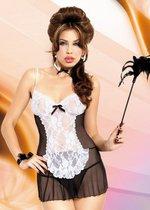 """Игровая сорочка """"Горничная Fifi"""", цвет черный, M-L - SoftLine Collection (SLC)"""