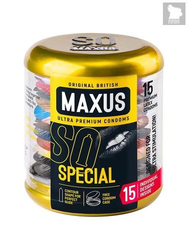 Презервативы с точками и рёбрами в металлическом кейсе MAXUS Special - 15 шт. - maxus