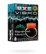 Эрекционное виброкольцо Luxe VIBRO Бархатный молот - LUXLITE