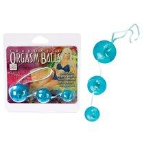 Вагинальные шарики Graduated Orgasm Balls - Teal, цвет голубой - California Exotic Novelties