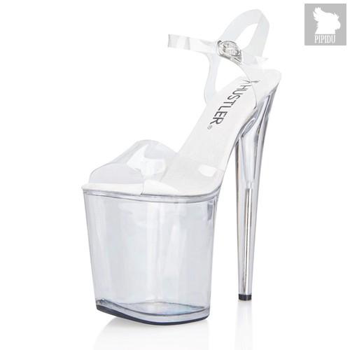 """Босоножки CLEAR 8"""", на высокой платформе, цвет прозрачный, 38 - Hustler Shoes"""