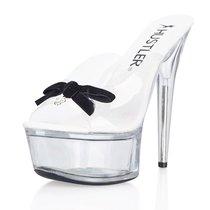 Сабо Black Bow, с черным бантиком, цвет черный, 40 - Hustler Shoes