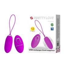 Лиловое пупырчатое виброяйцо Joanne с пультом ДУ, цвет фиолетовый - Baile