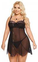 Сорочка бэби-долл Carla, цвет черный, XL - SoftLine Collection (SLC)