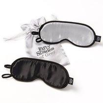 Набор из двух масок на глаза Soft Blindfold Twin Pack, цвет серебряный/черный - Lovehoney