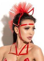 Маска с ушками Queen of hearts Allure, цвет красный - Me Seduce