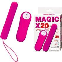 Розовая удлиненная вибропуля Magic x20, цвет фиолетовый - Baile