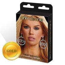 Круглые серьги Bitch, цвет золотой - Ann Devine