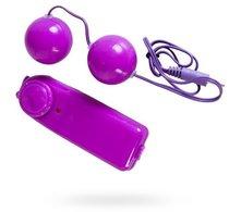 Фиолетовые вагинальные шарики с вибрацией, цвет фиолетовый - Toyfa