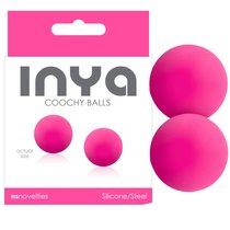 Вагинальные шарики INYA - Coochy Balls - Pink, цвет розовый - NS Novelties