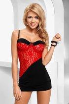 Сорочка Tiffany, цвет красный/черный, L-XL - Avanua