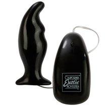 Вибростимулятор Angled Prostate Massager, цвет черный - California Exotic Novelties