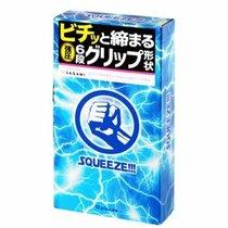 Презервативы Sagami Squeeze волнистой формы - 10 шт. - Sagami