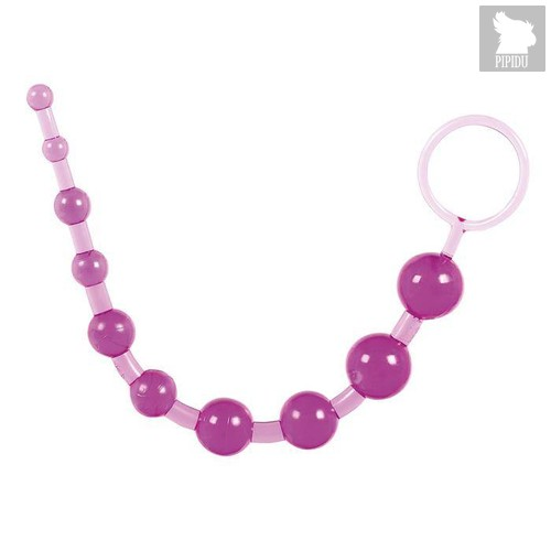 Фиолетовая анальная цепочка с кольцом - 25 см., цвет фиолетовый - Toyfa