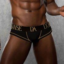 Боксеры из хлопково-модальной ткани с надписью на поясе, цвет черный, M - Doreanse
