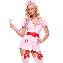 "Костюм ""Похотливая медсестра"", цвет розовый, S-M - Le Frivole"