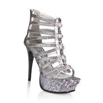Босоножки Silver Python, цвет серебряный - Hustler Shoes