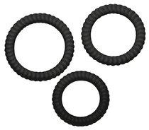 Набор из трех черных эрекционных колец - ORION