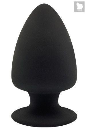 Черная анальная пробка PREMIUM SILICONE PLUG L - 13 см., цвет черный - Dream toys