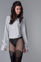 Колготы Lopez с имитацией трусиков и чулок, цвет черный, 3 - Gabriella