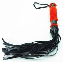 Плеть из лака с красным мехом BDSM Light - 43 см - БДСМ арсенал