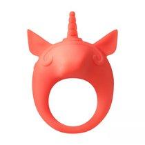 Оранжевое эрекционное кольцо Unicorn Alfie, цвет оранжевый - Lola Toys