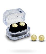 Вагинальные шарики утяжеленные в шкатулке, цвет золотой - Seven Creations