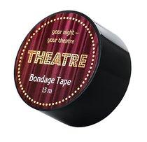 Черный бондажный скотч TOYFA Theatre - 15 м., цвет черный - Toyfa