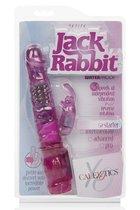 Розовый вибромассажер Petite Jack Rabbit - 24 см, цвет розовый - California Exotic Novelties
