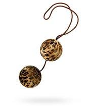 Леопардовые вагинальные шарики DUOTONE BALLS, цвет леопард - California Exotic Novelties