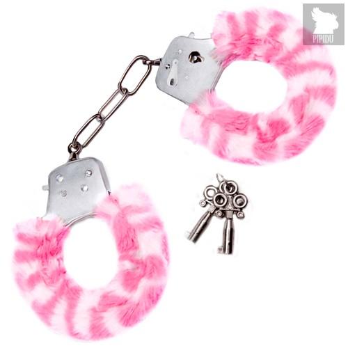 Наручники Furry Love Cuffs с мехом, цвет розовый - Lux Fetish