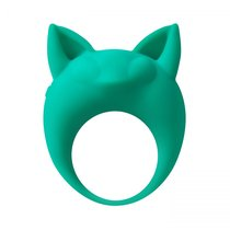 Зеленое эрекционное кольцо Lemur Remi, цвет зеленый - Lola Toys