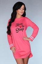 Ночная рубашка Cayani с длинными рукавами, цвет розовый, размер S-M - Livia Corsetti