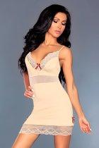 Телесная сорочка Lourdes с нежным кружевом, цвет кремовый, размер L-XL - Livia Corsetti