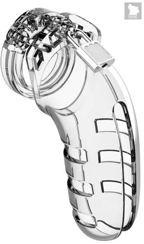Прозрачный мужской пояс верности Cock Cage Model 06 Chastity, цвет прозрачный - Shots Media