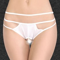Оригинальные трусики с бусинами и тройными бретелями, цвет белый, размер 46-48 - FlirtON