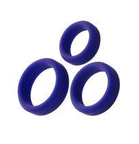 Набор из 3 фиолетовых эрекционных колец A-Toys, цвет фиолетовый - Toyfa