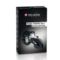 Пояс верности с электростимуляцией Mystim Pubic Enemy No1 Black Edition, цвет черный - Mystim
