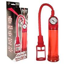 Вакуумная помпа Pump Master Mighty Red, цвет красный - Toy Joy